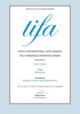 TIFA ( tokyo international foto awards ) !!